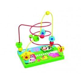 ANDREU Toys Provlékací labyrint s kravičkou