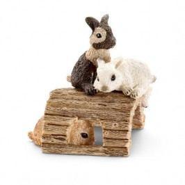 Schleich Zvířátko - mláďata králíků hrající si