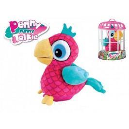 Mikro hračky Papoušek Penny opakující slova 18 cm