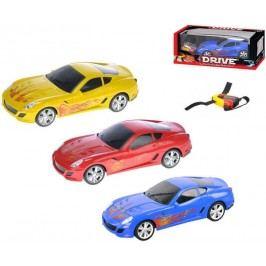 Mikro hračky Auto RC I-DRIVE plast 25 cm s ovládacím náramkem - červené