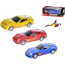 Mikro hračky Auto RC I-DRIVE plast 25 cm s ovládacím náramkem - modré