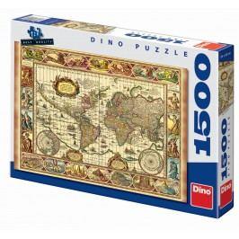 Dino Puzzle Mapa a sedm divů světa 1500 dílků