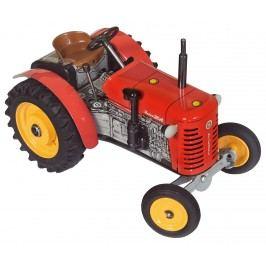 KOVAP Traktor Zetor červený na klíček kov 14 cm 1:25