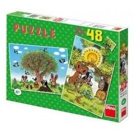 Dino Puzzle Krtek Léto s Krtečkem 2 x 48 dílků
