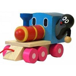 Detoa Krtek a mašinka/vlak dřevo 12 cm tahací