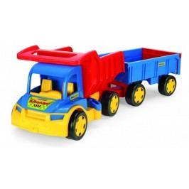 WADER Auto Gigant truck + dětská vlečka 55 cm
