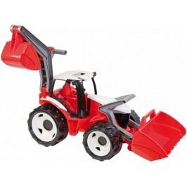 LENA Traktor se lžící a bagrem plast červeno-bílý 65 cm