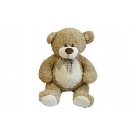 Teddies Medvěd s mašlí - 80 cm - béžový