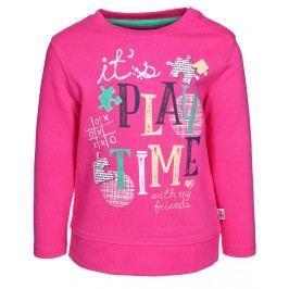 Blue Seven Dívčí mikina Play time - růžová