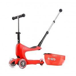 Micro Tříkolka Mini2go Deluxe Plus - červená