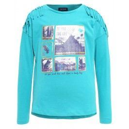 Blue Seven Dívčí tričko s obrázky - zelené