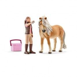 Schleich Set 2016 - Klisna koně Islandského s ošetřovatelkou