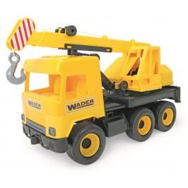 WADER Auto middle Truck jeřáb žlutý