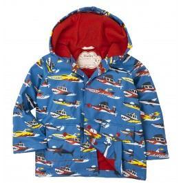 Hatley Chlapecká bunda do deště s loděmi - modrá