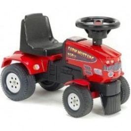 Falk Odstrkovadlo - traktor Mustang 350S s volantem červený