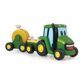 John Deere Traktor se zemědělským vozíkem