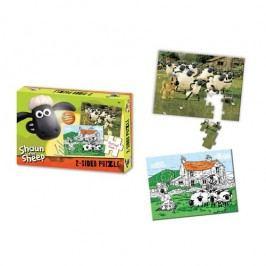 Shaun the Sheep Oboustranné puzzle s pastelkami 50 ks