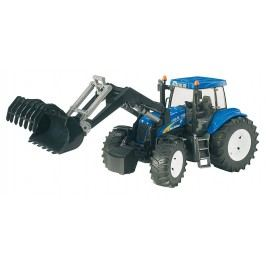 Bruder Farmer - New Holland T8040 Traktor s předním nakladačem