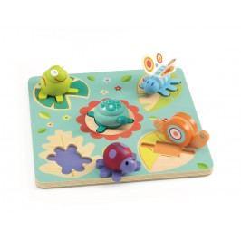 Djeco Dřevěné puzzle Na louce