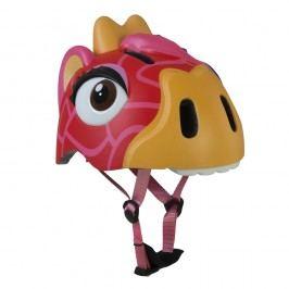 Crazy Safety Helma In-mold Červená žirafa vel. S (49-55 cm) 2017