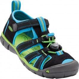 Keen Dětské sandály Seacamp II CNX, black/blue danube