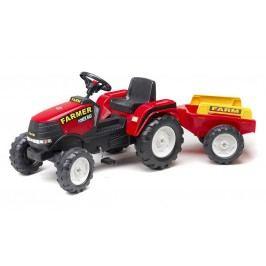Falk Traktor šlapací Farm Max červený + přívěs