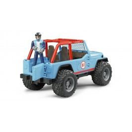 Bruder Jeep Cross country s řidičem 1:16