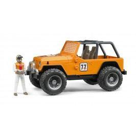 Bruder Jeep Cross country oranžový s řidičem 1:16