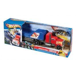 MATTEL Hot Wheels Havarující tahač - červeno-modrý