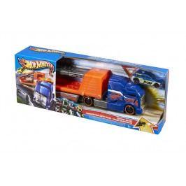 MATTEL Hot Wheels Havarující tahač - oranžovo-modrý