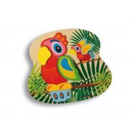 Eichhorn Dřevěné puzzle 2D zvířátka - papoušek