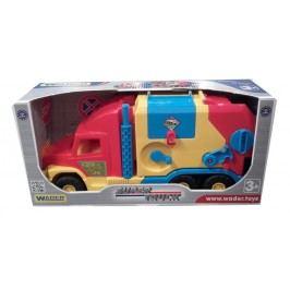 WADER Auto Super Truck popeláři Wader 57 cm s červenou kabinou