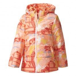 adidas Dívčí prošívaná bunda Sunglo - oranžová