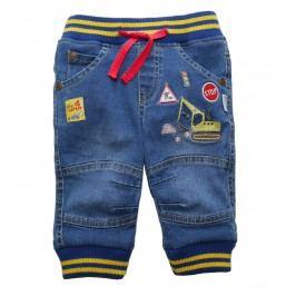 Gelati Chlapecké kalhoty s jeřábem - modré