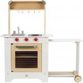 Hape Toys Kuchyňka dřevěná s výsuvným stolkem