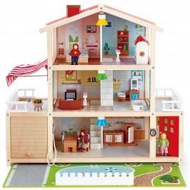 Hape Toys Velký rodinný dům s garáží