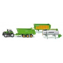 Farmer - Traktor Deutz se sadou přívěsů Joskin, 1:87