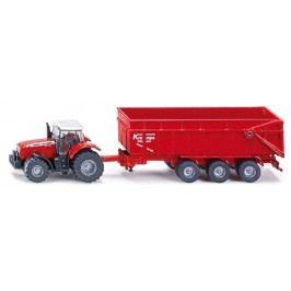 Farmer - Traktor Massey Ferguson s přívěsem, měřítko 1:87