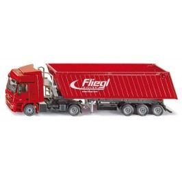 Super - Kamion s vyklápěcím vlekem červený, 1:50