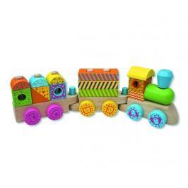 ANDREU Toys Barevný dřevěný vláček
