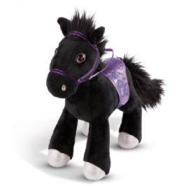 NICI Soulmates plyšová hračka kůň Black Cassis 35 cm stojící s uzdou 44900