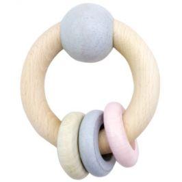 HESS Round Rattle Ball & Prsteny růžové