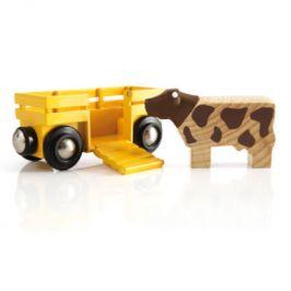 Vagón na zvířata BRIO s krávou