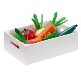 Děti koncept smíšené zeleniny box