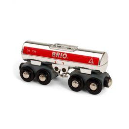 BRIO WORLD Cisternový vůz stříbrný