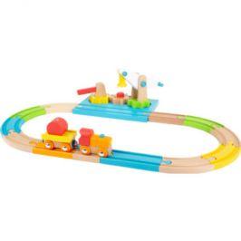 small foot ® Wooden Junior železniční jeřáb