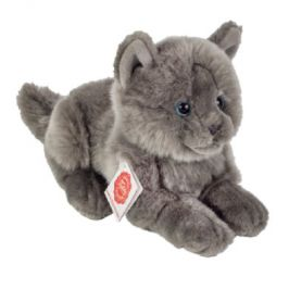 Teddy HERMANN ® Kartuziánská kočka ležící, 20 cm