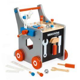 Janod dřevěný vozík BricoKids s magnetickými doplňky