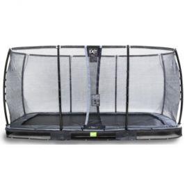EXIT V zemi - Trampoline Elegant Premium 244x427 cm s bezpečnostní sítí Deluxe - černá