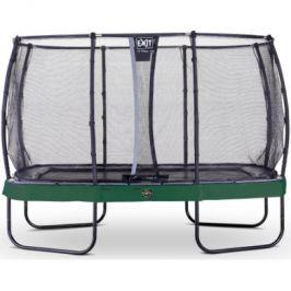 EXIT trampolína Elegant Premium 244x427cm s bezpečnostní sítí Deluxe - zelená
